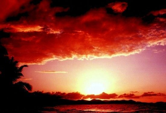 coucher de soleil les antilles