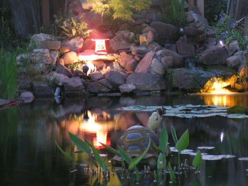 Fond d ecran - Foto de bassin de jardin avec cascade ...